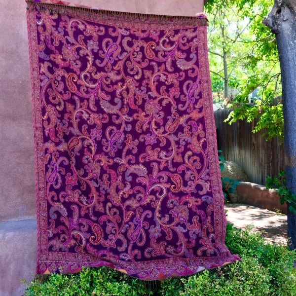 SOLD SOFT BOILED WOOL SHAWL BLANKET 3