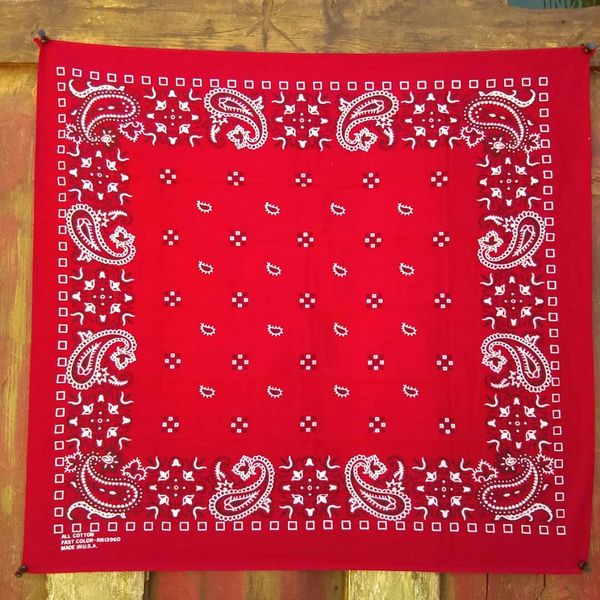 SOLD RED VINTAGE BANDANNA # 5