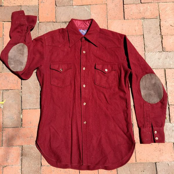 SOLD 1980s RED WOOL PENDLETON HUNTING SHIRT
