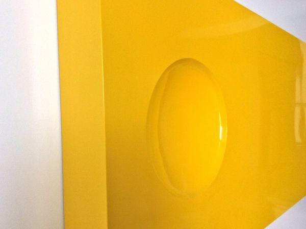 Primrose Yellow Wall Sculpture- Modernist Metal Wall Art- POP Art ...