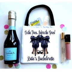 On the Town Favor bags, Hangover recovery Bag. Bachelorette Oh Shit kits!