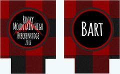Buffalo Plaid Mountain Party Coozies