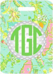 Golf Florida Lilly Monogrammed Bag Tag