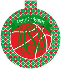 Basketball Christmas Monogrammed Ornament