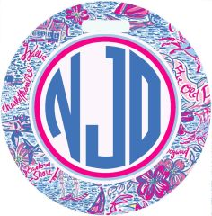 Lilly Virginia Monogrammed Luggage Tag