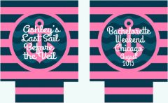 Anchor Stripes Nautical Monogrammed Party Hugger