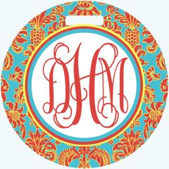 French Country Monogrammed Bag Tag
