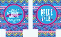 Bride Tribe Tribal Print Bachelorette Coozies