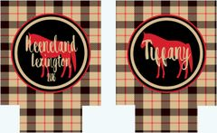 Plaid Party Coozies