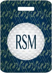 Golf Clubs Monogrammed Bag Tag