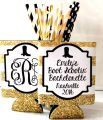 Boots and Bling Gold Stripe Huggers
