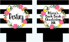 Floral Wreath Black Stripe Party Huggers