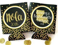 NOLA Black and Gold Polka Dot Glitter Huggers
