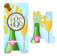 Champagne Bottles Cell Phone Stand