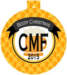 Beer Christmas Monogrammed Ornament