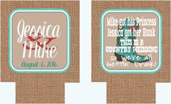 Wedding Burlap Coozies