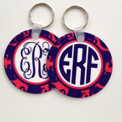 Lilly Tusk in the Sun Monogram Keychain