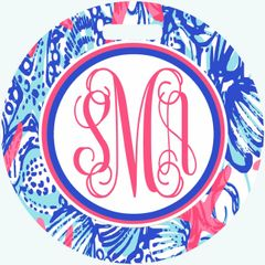 Lilly She Sells Monogrammed Luggage Tag