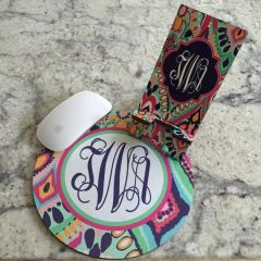 Lilly Monogrammed Mouse Pad