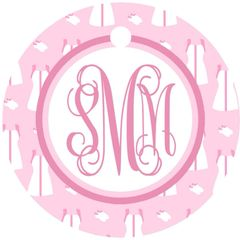 Tennis Dress Monogram Keychain
