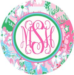 Lilly North Carolina Monogrammed Luggage Tag