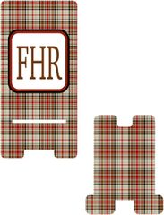 Brown Plaid Cell Phone Stand
