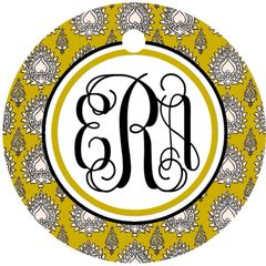 Henna Image Monogram Keychain