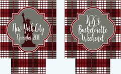 Gray Plaid Party Coozies