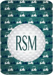 Golf Carts Monogrammed Bag Tag