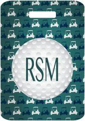 Golf Carts Monogrammed Bag Tag