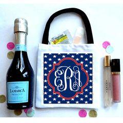 'Merica Stars Favor bag, Hangover recovery Bag. America Oh Shit kits!