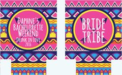Bride Tribe Hot Pink and Navy Tribal Print Huggers