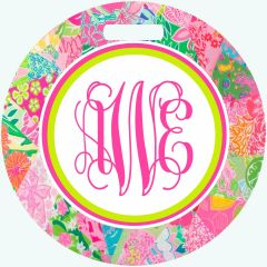 Lilly Patchwork Monogrammed Luggage Tag