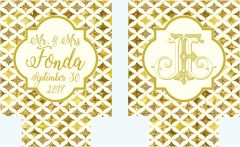 Ivory and Gold Foil look Huggers