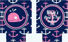 Anchor Navy and Pink Nautical Party Huggers