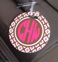 Small Ikat Monogrammed Luggage Tag