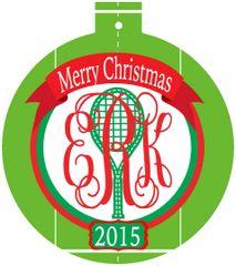 Tennis Court Monogrammed Ornament