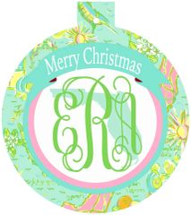 Florida Lilly Monogrammed Ornament