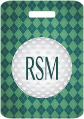 Golf Argyle Monogrammed Bag Tag