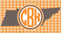 Tennessee T's Monogrammed License Plate