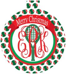 Tennis Balls Monogrammed Ornament