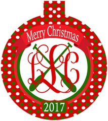 Crew Christmas Monogrammed Ornament