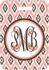 Field Hockey Ikat Monogrammed Bag Tag
