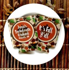 Fall Acorn Party Coozies