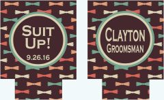 Bow Tie Bachelor or Birthday Party Coozies