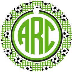 Soccer Balls Monogram Keychain