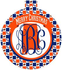 Auburn Christmas Personalized Ornament