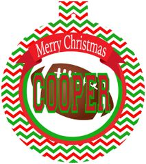 Football Christmas Monogrammed Ornament