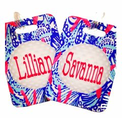 Golf Lilly Monogrammed Bag Tag