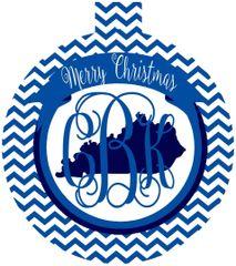 Kentucky Chevron Personalized Ornament